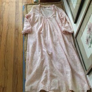 Soothing pink matta dress!
